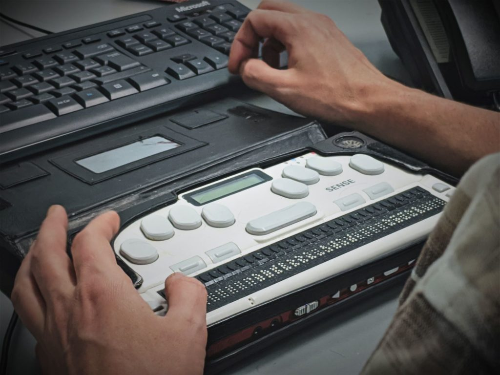 Image of braille laptop